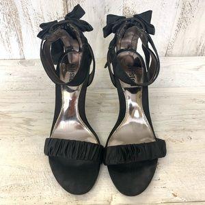 Unlisted Black Bliss Heels Bow Diamonds Zipper 7.5